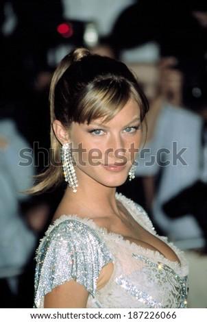 Gisele Bundchen, wearing Dolce & Gabbana, at Metropolitan Museum of Art Goddess Gala, NY 4/28/2003 - stock photo