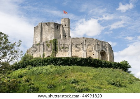 Gisors (Eure, Haute Normandie, France) - Ruins of the castle and park at summer