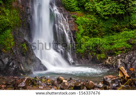 Git Git waterfall in north Bali, Indonesia - stock photo