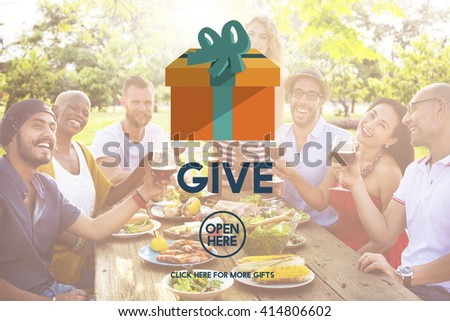 Give Donate Generosity Giving Support Help Concept - stock photo