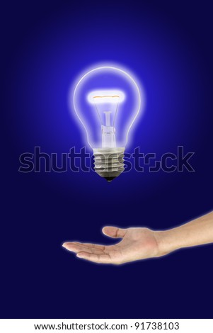 Give glow opportunity in the dark. - stock photo