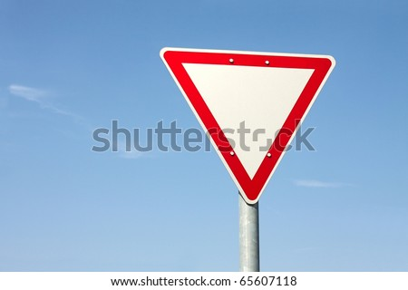 Give way traffic sign - stock photo