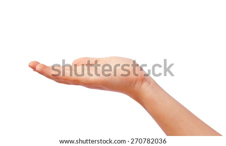 Giving hand - stock photo