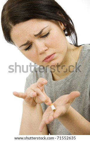 Giving up smoking - stock photo