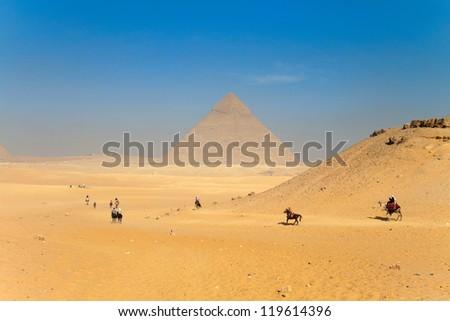 Giza pyramids - stock photo