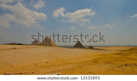 Giza pyramids at Cairo - Egypt
