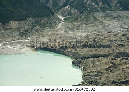 Glacial Lake in Kluane National Park, Yukon - stock photo