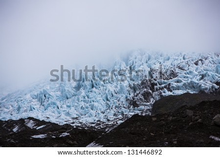 Glacier - stock photo