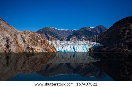 Glacier bay in a sunny day  - stock photo
