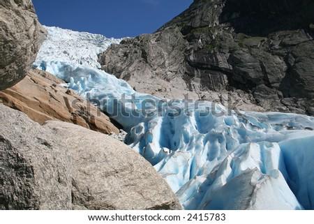 Glacier Briksdal in Norway, Europe - stock photo