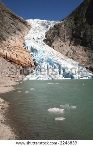 Glacier Briksdale in Norway, Europe - stock photo