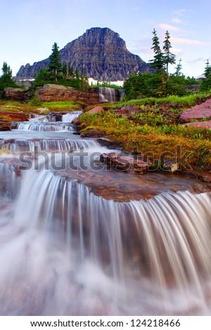 Glacier Cascades - stock photo