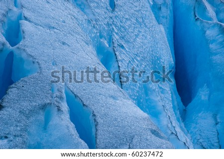 glacier detail - stock photo