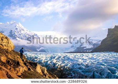 Glacier Hike in Iceland - stock photo
