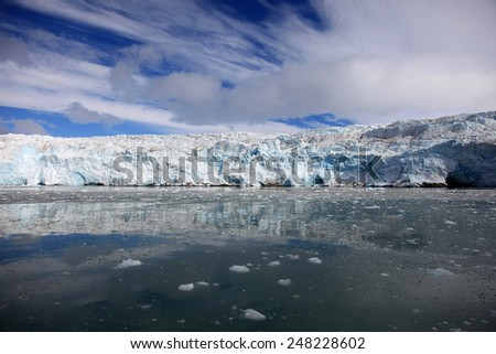 Glacier in Svalbard, Norway