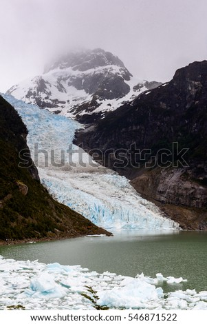 Glacier in the Bernardo O'Higgins National Park, Chile, South America