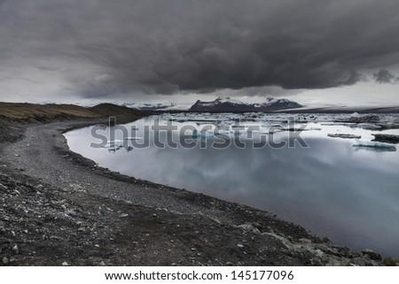Glacier Lagoon Jokulsarlon in Iceland - stock photo