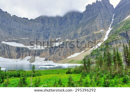 Glacier National Park alpine landscape in summer