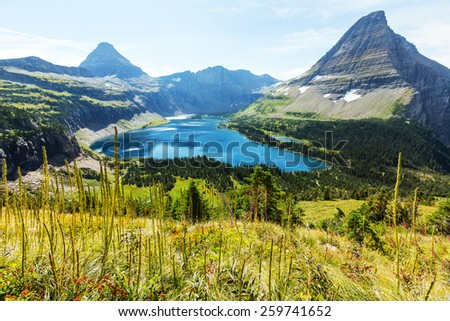 Glacier National Park, Montana. - stock photo