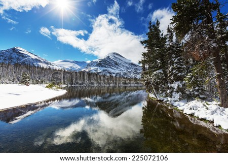 Glacier National Park, Montana.Winter. - stock photo