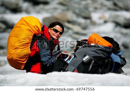 Glacier rest - stock photo