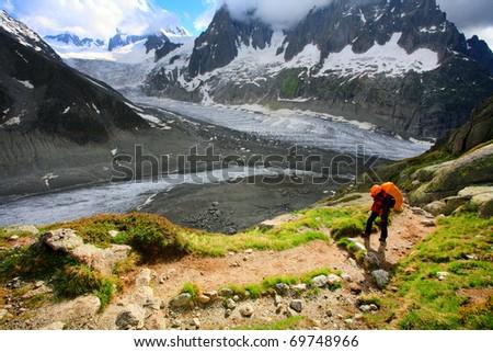 Glacier Walk - stock photo