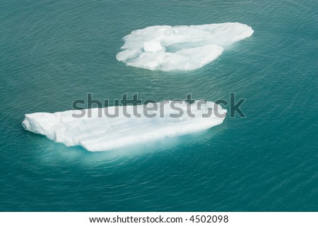 Glacier Water Blue Cold Ice Global Warming Series 14 - stock photo