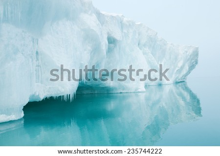 Glaciers and icebergs - stock photo