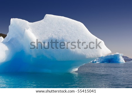 Glaciers and icebergs of Greenland 2 - stock photo