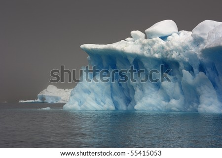 Glaciers and icebergs of Greenland 6 - stock photo