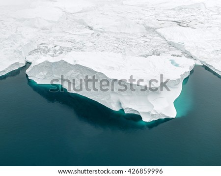 Glaciers in Greenland, Ilulissat Icefiord