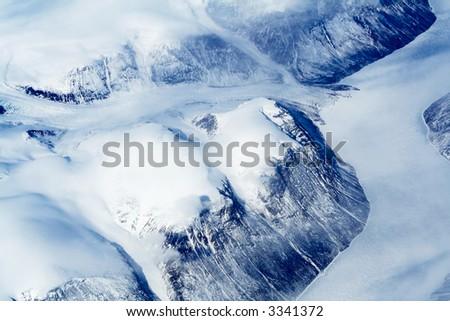 Glaciers of Greenland - stock photo