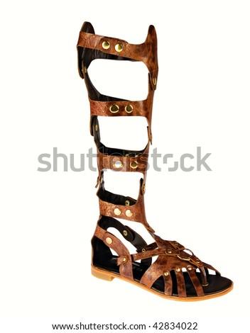 Gladiator Leather Sandal - stock photo