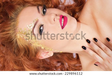 Glamor pretty woman  - stock photo