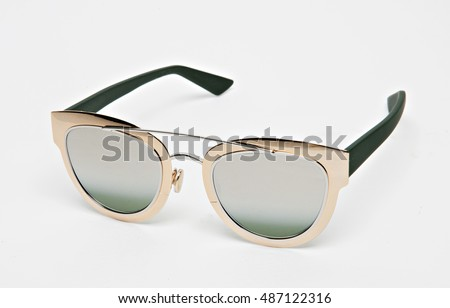 glamorous and elegant sun glass isolated with shadows