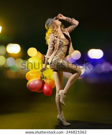 Glamorous blonde beauty - stock photo