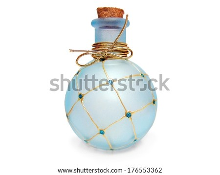Glamorous glamor aromatic aroma luxurious luxury perfume bottle - stock photo