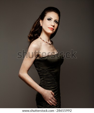 Glamorous lady all dressed out for a night of party - stock photo