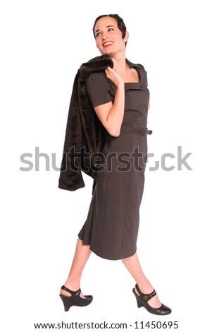 Glamorous 1920s woman. - stock photo