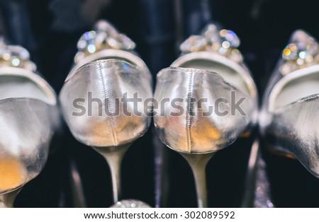 Glamorous shoes - stock photo