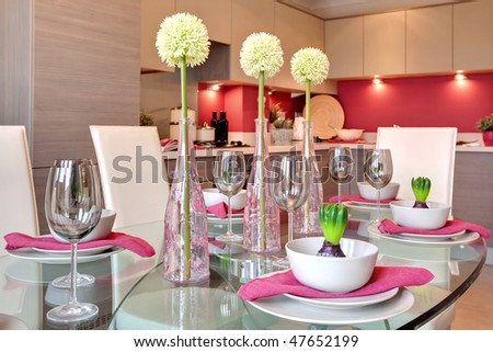 Dinner Table Background glamorous table setting ready dinner party stock photo 47652199