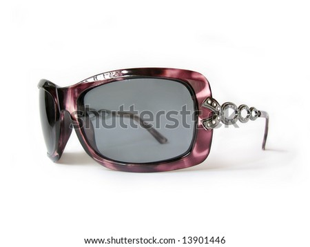 glamour femininity sunglasses, isolated, close-up - stock photo