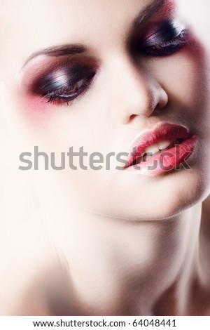 glamour girl - stock photo