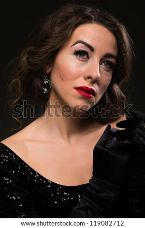Glamour portrait of a brown haired Moldovan woman
