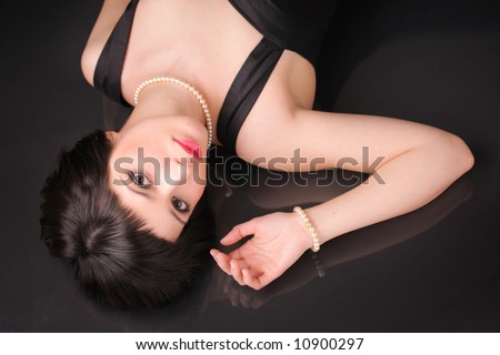Glamour portrait of an attractive female - stock photo