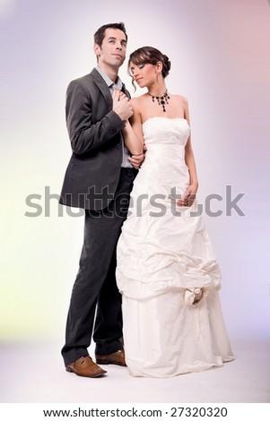 Glamour style wedding photo - stock photo