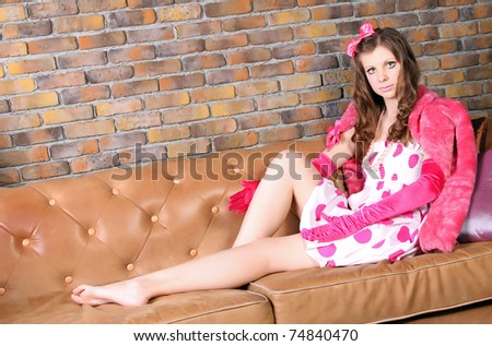 Glamour woman doll - stock photo