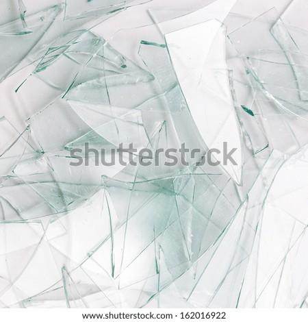 glas splitter Broken window on white gray background - stock photo