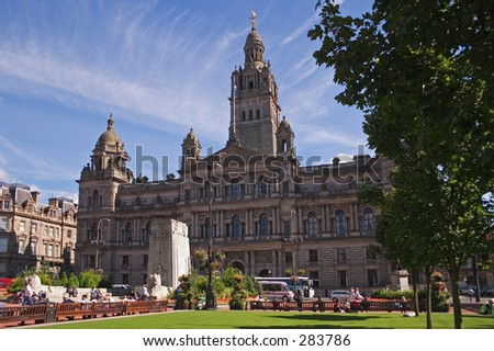 Glasgow City Chambers in George Square - stock photo