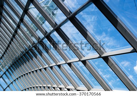 Glass and framing design of architecture
